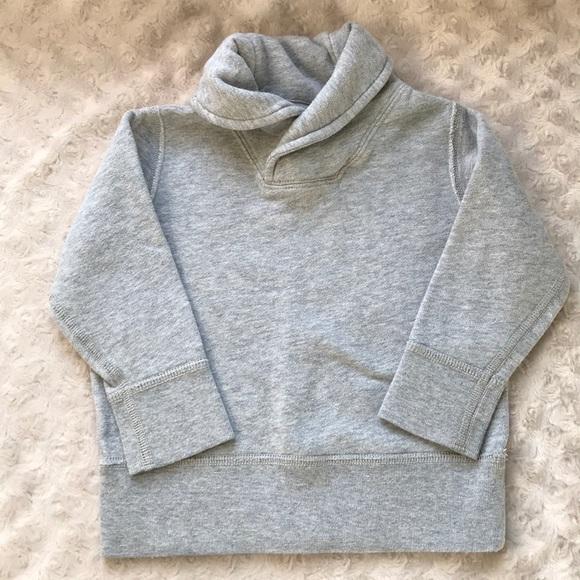 Crewcuts Shawl Collar Sweatshirt 2 XS Gray